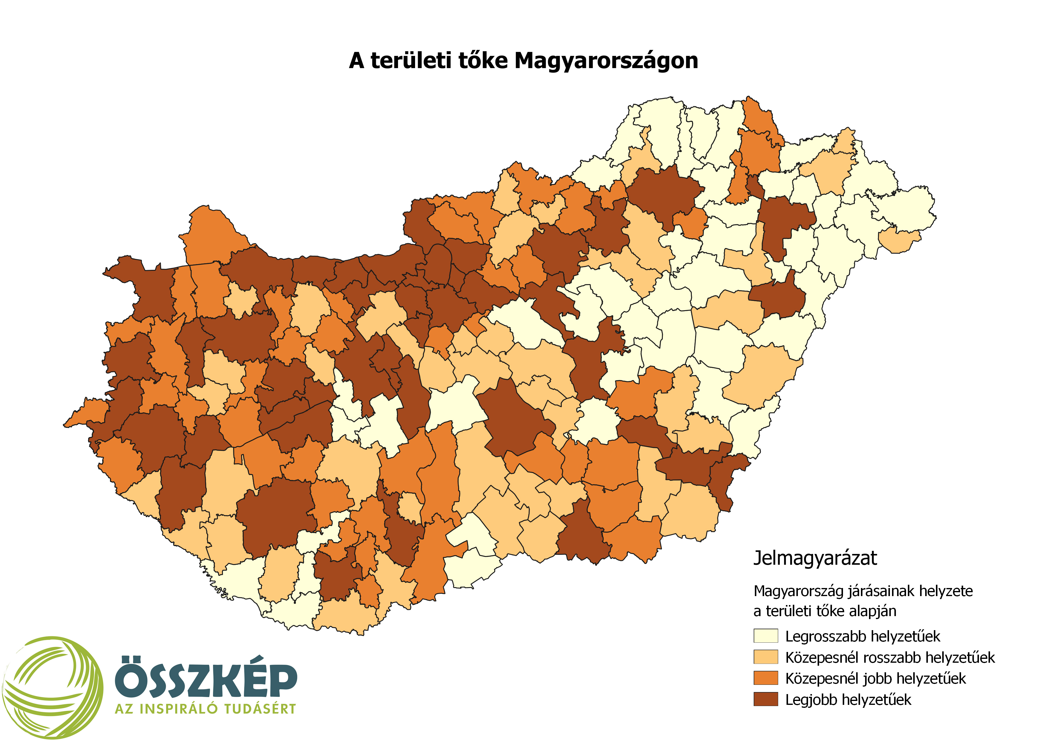 Térképen: A területi tőke Magyarországon