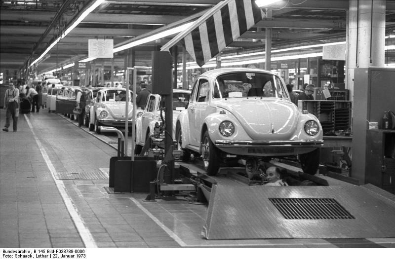 VW-Werk, Wolfsburg Montage-Käfer
